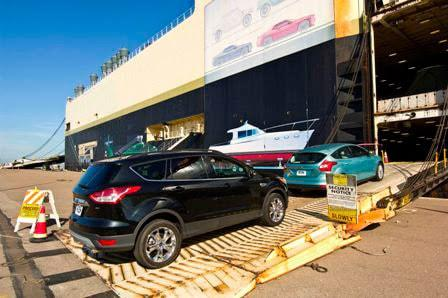 Driving Car Into Vessel for Hawaii Auto Shipping