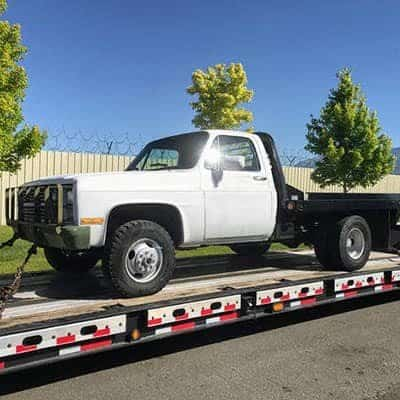 Transporting Dually Truck On Carrier