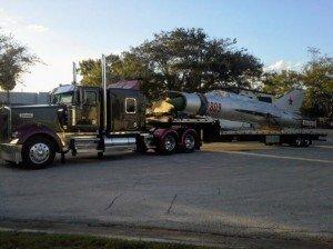 hauling heavy military plane