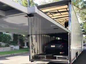 enclosed auto transport lift gate