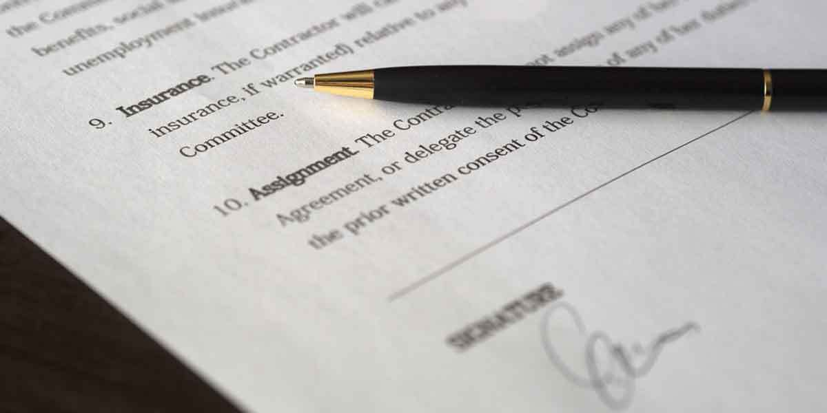Sample of bill of lading agreement