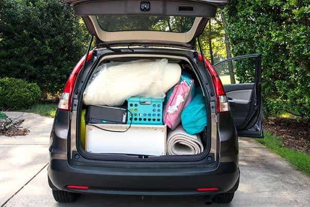Car Transporting Personal Items