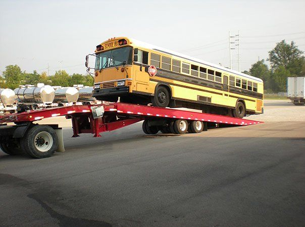 transporting school buses